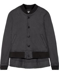 The Great - The Swingy Asymmetric Canvas Bomber Jacket - Lyst