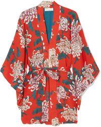 Fleur du Mal | Haori Printed Silk-crepe Kimono | Lyst