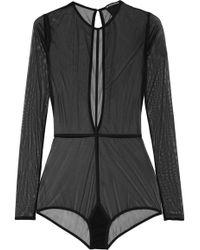 Ann Demeulemeester - Stretch-tulle Bodysuit - Lyst