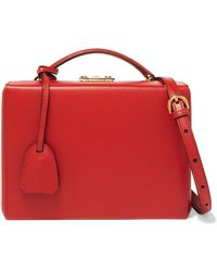 Mark Cross - Grace Small Textured-leather Shoulder Bag - Lyst