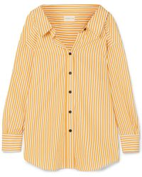 Simon Miller - Tabor Oversized Striped Cotton-poplin Shirt - Lyst
