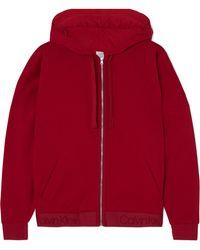Calvin Klein - Cotton-blend Fleece Hoodie - Lyst