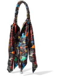 Christian Louboutin - Printed Silk-satin And Leather Bag Strap - Lyst