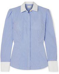 Rebecca Vallance - Cassia Striped Cotton Shirt - Lyst