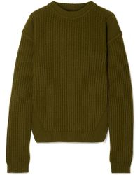 Rick Owens - Ribbed Wool Sweater - Lyst