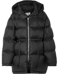 Acne Studios - Oversized Hooded Quilted Shell Down Jacket - Lyst