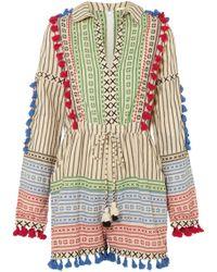 Dodo Bar Or - Tasselled Striped Cotton-gauze Playsuit - Lyst