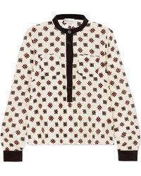 RED Valentino - Printed Silk Blouse - Lyst