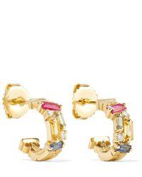 Suzanne Kalan - 18-karat Gold, Sapphire And Diamond Earrings - Lyst