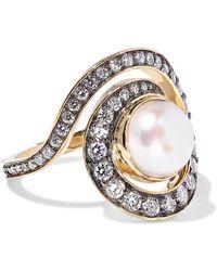 Noor Fares - Planet Spiral 18-karat Gold Multi-stone Ring - Lyst