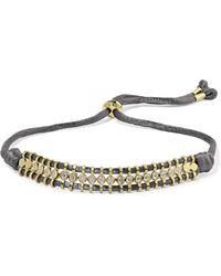 Jemma Wynne - 18-karat Gold, Diamond And Cord Bracelet - Lyst