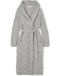 Max Mara - Hooded Belted Mohair-blend Cardigan - Lyst