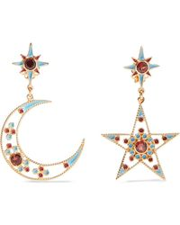 Percossi Papi - Gold-plated And Enamel Garnet Earrings - Lyst