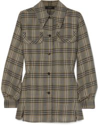 JOSEPH - Asher Checked Wool-flannel Shirt - Lyst