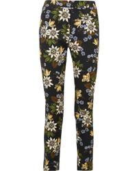 Erdem - Sidney Floral-print Stretch-cotton Twill Slim-leg Pants - Lyst
