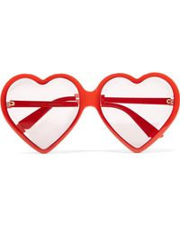 Gucci - Heart-shaped Acetate Sunglasses - Lyst