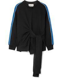 3.1 Phillip Lim - Striped French Cotton-terry Sweatshirt - Lyst