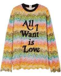 Ashish - Oversized Sequined Silk-georgette Top - Lyst
