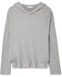 Skin | Ingrid Waffle-knit Cotton-blend Hooded Top | Lyst