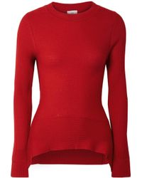 TOME - Ribbed Merino Wool, Silk And Cashmere-blend Sweater - Lyst