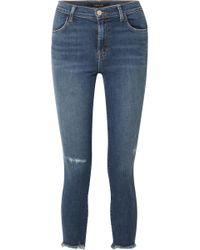 Jean Skinny Taille Haute The Marguerite - Bleu marineL'agence Obtenir Authentique Prix Pas Cher 94OY8nRI9f
