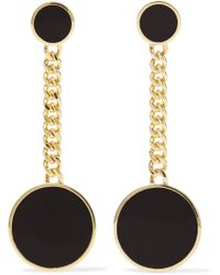 Arme De L'Amour - Gold-plated Enamel Earrings - Lyst