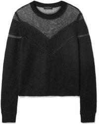 Rag & Bone Blaze Panelled Open-knit Sweater
