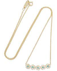 Jennifer Meyer - 18-karat Gold, Diamond And Turquoise Necklace - Lyst