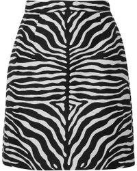Michael Kors - Wool-jacquard Mini Skirt - Lyst