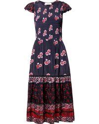 Sea - Malaya Smocked Printed Voile Dress - Lyst