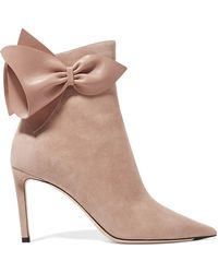 Jimmy Choo - Kassidy 85 Leather-trimmed Suede Ankle Boots - Lyst