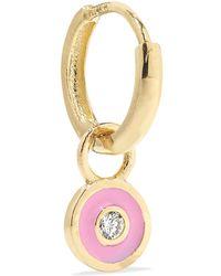 Alison Lou - Huggy 14-karat Gold, Enamel And Diamond Earring - Lyst