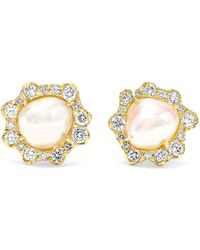 Kimberly Mcdonald - 18-karat Gold, Pearl And Diamond Earrings - Lyst