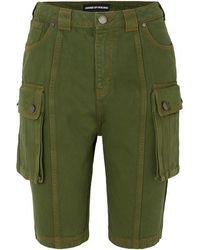 House of Holland Denim Cargo Shorts - Green