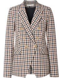 Veronica Beard - Lonny Dickey Gingham Cotton-blend Blazer - Lyst