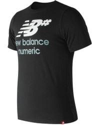 New Balance - Nb Numeric Stacked Logo Tee - Lyst