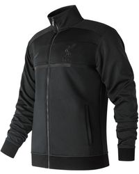 New Balance - Pitch Black Track Jacket - Lyst