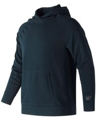 New Balance - 247 Luxe Knit Pullover Hoodie - Lyst