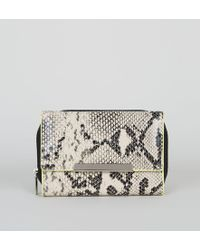 New Look - Mink Faux Snake Neon Edge Small Purse - Lyst