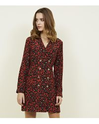 e93696238c8 New Look Maternity Black Leopard Print Jacquard Midi Shirt Dress in ...