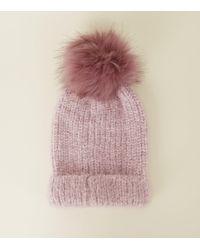 c67320a95bf New Look Teal Faux Fur Pom Pom Bobble Beanie in Blue - Lyst