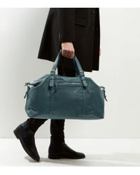 New Look - Green Leather-look Holdall - Lyst