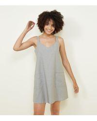 Apricot - Khaki Pocket Front Pinafore Dress - Lyst