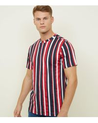 9f2c886173 New Look Dark Green Vertical Stripe T-shirt in Green for Men - Lyst