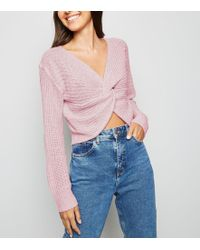 472ac0f078 Missguided Valene Oversize Batwing Slouch Cardigan Pale Pink in Pink ...