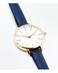 New Look - Navy Strap Watch - Lyst
