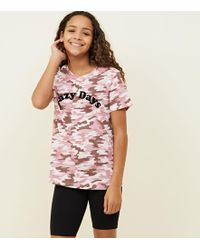 New Look - Girls Pink Camo Print Lazy Days Pyjama Set - Lyst 2e5d7ca6e