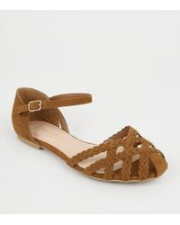 d2d271c88 New Look Wide Fit Black Suedette Caged Front Sandals in Black - Lyst