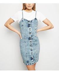8da56d771805 Oasis Dark Wash  stephanie  Pencil Dress in Blue - Lyst