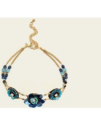 New Look - Gold Sequin Flower Anklet - Lyst